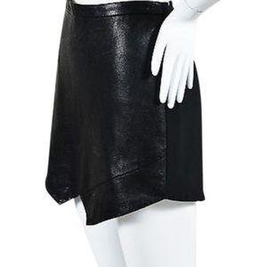 Leather mini skirt by mason